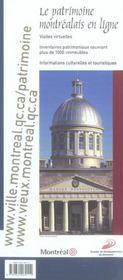 Montreal Une Ville D'Histoire Guide Patrimonial (1re édition) - 4ème de couverture - Format classique