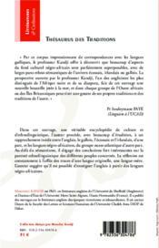 Thésaurus des traditions ; Grande-Bretagne et Sénégambie, la sémantique historique de modèles interculturels - 4ème de couverture - Format classique