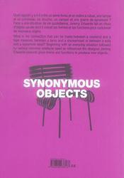 Objets synonymes - 4ème de couverture - Format classique