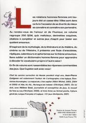 L'amour est un jeu ; 100 tests, quiz, rébus et mots croisés - 4ème de couverture - Format classique