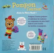 Pompon l'ourson aide le Père Noël - 4ème de couverture - Format classique