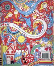 Dessins, gribouillages et coloriages ; animaux, fleurs, motifs et autres - 4ème de couverture - Format classique