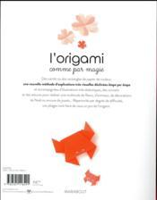 L'origami comme par magie - 4ème de couverture - Format classique