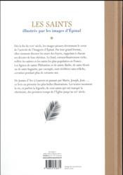 Les saints illustrés par les images d'épinal - 4ème de couverture - Format classique
