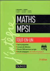Mathématiques tout-en-un MPSI (5e édition) - Couverture - Format classique