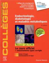 Endocrinologie, diabétologie et maladies métaboliques (4e édition) - Couverture - Format classique