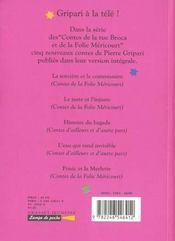 Contes de la folie mericourt - 4ème de couverture - Format classique