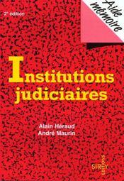 Institutions Judiciaires - Intérieur - Format classique