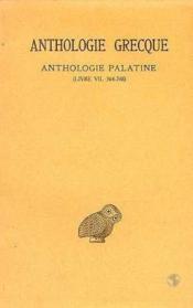 Anthologie grecque t.5 ; L7 - Couverture - Format classique