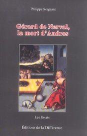 Gerard de nerval ,la mort d'andros - Intérieur - Format classique