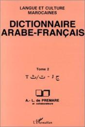 Dictionnaire Arabe-Francais t.2 - Couverture - Format classique