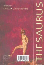Le livre de catulle de verone - 4ème de couverture - Format classique