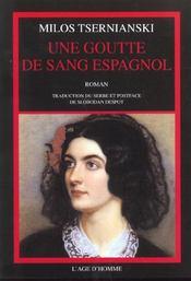 Une Goutte De Sang Espagnol - Intérieur - Format classique