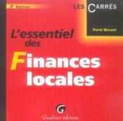 Essentiel des finances locales 3eme - Couverture - Format classique