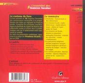 Essentiel des finances locales 3eme - 4ème de couverture - Format classique