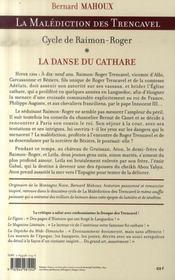 La malédiction des trencavel ; cycle de raimon-roger t.1 ; la danse du cathare - 4ème de couverture - Format classique