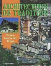 Architectures de tradition provence, comte de nice, piemont. - Couverture - Format classique
