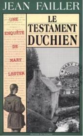 MARY LESTER T.18 ; le testament duchien - Couverture - Format classique