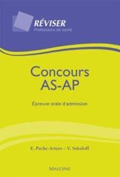 Concours as/ap ; épreuve orale d'admission - Couverture - Format classique