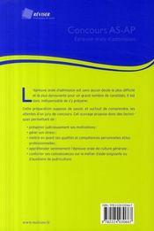 Concours as/ap ; épreuve orale d'admission - 4ème de couverture - Format classique