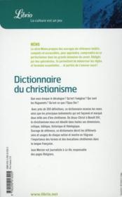 Dictionnaire du christianisme - 4ème de couverture - Format classique