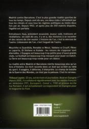 Clásico ; Barelone/Real Madrid ; la guerre des mondes - 4ème de couverture - Format classique