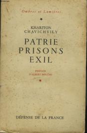 Patrie, Prison, Exil. - Couverture - Format classique