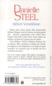Hôtel Vendôme - 4ème de couverture - Format classique