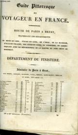 Guide Pittoresque Du Voyageur De France - Departement Du Finistere - Couverture - Format classique