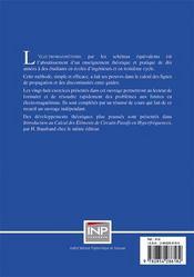 L'electromagnetisme par les schemas equivalents - 4ème de couverture - Format classique
