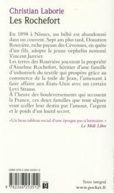 Les Rochefort - 4ème de couverture - Format classique