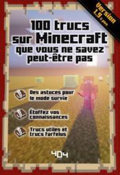 100 trucs sur Minecraft que vous ne savez peut être pas ; version 1.9 - Couverture - Format classique