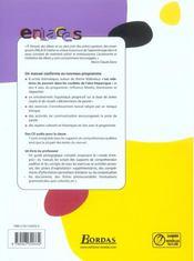ENLACES ; ENLACES (édition 2005) - 4ème de couverture - Format classique