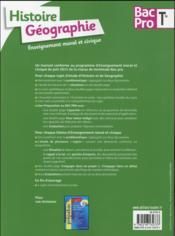 Histoire-géographie-EMC ; terminale BAC pro - 4ème de couverture - Format classique