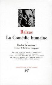 La comédie humaine t.9 - Couverture - Format classique