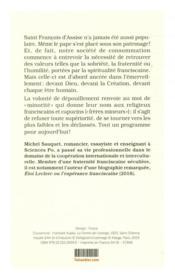 Emerveillement et minorité ; la spiritualité franciscaine pour aujourd'hui - 4ème de couverture - Format classique