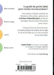 Le petit guide des fleurs sauvages - 4ème de couverture - Format classique