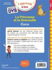 La Princesse et la grenouille ; Coco ; spécial dys - 4ème de couverture - Format classique