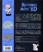 Histoire de mots en BD - 4ème de couverture - Format classique
