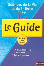 Guide abc svt term s cours - Intérieur - Format classique