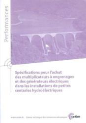 Specifications pour l'achat des multiplicateurs a engrenages et des generateurs electriques dans les - Couverture - Format classique