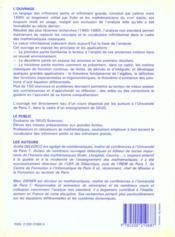 Lecons Calcul Infinitesimal - 4ème de couverture - Format classique