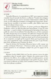 Varenka olessova - 4ème de couverture - Format classique