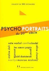 Psycho-portraits du xx siecle - Intérieur - Format classique