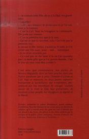 Cali et les oiseaux - 4ème de couverture - Format classique