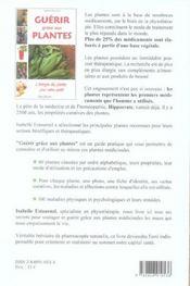 Guerir Grace Aux Plantes - 4ème de couverture - Format classique