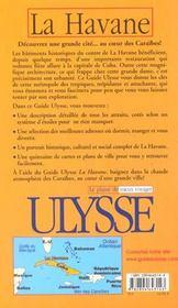 Guide Ulysse ; La Havane - 4ème de couverture - Format classique