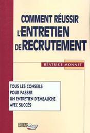 Comment reussir l'entretien de recrutement - Intérieur - Format classique