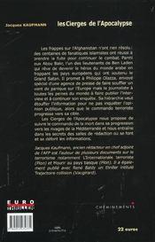 Cierges De L'Apocalypse (Les) - 4ème de couverture - Format classique