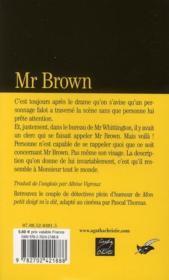 Mr Brown - 4ème de couverture - Format classique